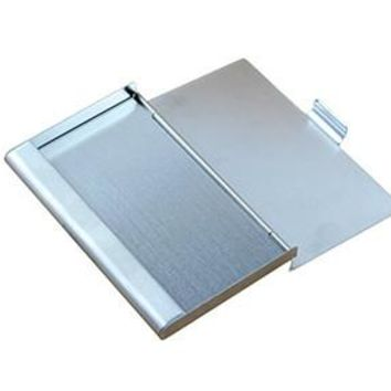 9.3x5.7x0.7cm Business ID Credit Card Case Metal Fine Box Holder Stainless Steel Pocket