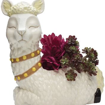 Alpaca Ceramic Flower Pot - PRE-ORDER, SHIPS LATE JULY