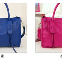 Fashion Spring Soft Faux Leather Boston Handbag Shoulder Bag 4 Colors