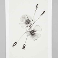 Burrowing Home Wild Divine Art Print - Black & White One