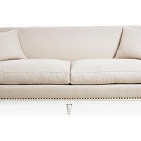 "Paris 91"" Sofa, Natural Linen - Sofas & Settees - Living Room - Furniture 