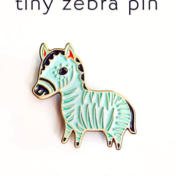 Zebra Pin Enamel Lapel Pin Zebra Pin by boygirlparty