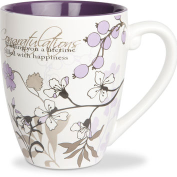 Congratulations...Wishing you a lifetime filled with happiness Mug