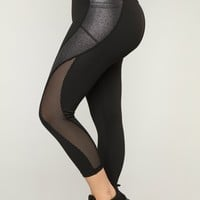 Kiera Performance Leggings - Silver