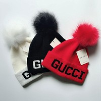 GUCCI Autumn Winter Trending Women Men Stylish Warm Knit Hat Cap