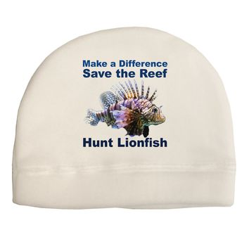 Save the Reef - Hunt Lionfish Child Fleece Beanie Cap Hat by TooLoud