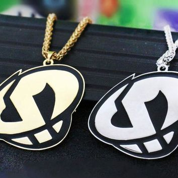 Game Pokemon Sun and Moon Team Skull Pendant Plated Necklace Cosplay Accessories Prop