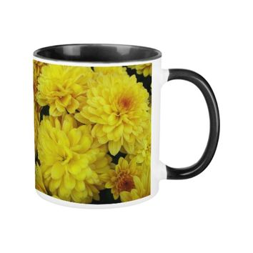 Yellow Mums Floral Coffee Mug