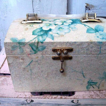 Vintage Lucite box purse pretty aquablue by AnitaSperoDesign