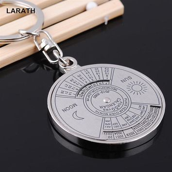 50 Years Perpetual Calendar Car Keyring Key Chain Unique Metal Keyfobs Ornament Novelty Gift