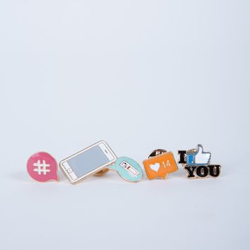 Social World Pin Set