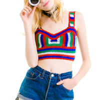 Summer Vibes Crocheted Crop Top