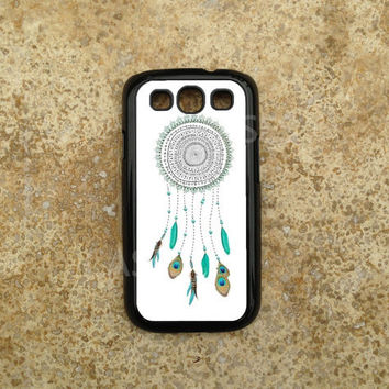 Galaxy S3 Cases - Samsung Galaxy S3 Cover - Teal Dreamcatcher - Best Top Accessories for Samsung S iii - Hard Protective Case