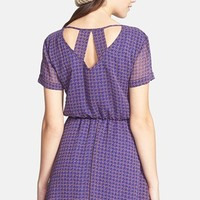 dee elle 'Milly' Chiffon Skater Dress (Juniors) | Nordstrom