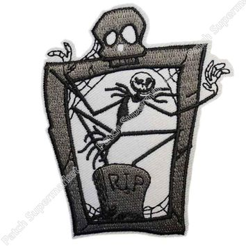 "3.5"" The Nightmare Before Christmas Oogie Boogie Figure patch TV Movie Film Series Embroidered iron on sew on badge transfer"