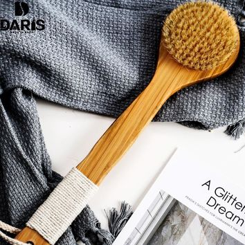 Long Wooden Body Bath Brush