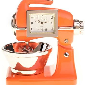 Orange Retro Clock Mixer