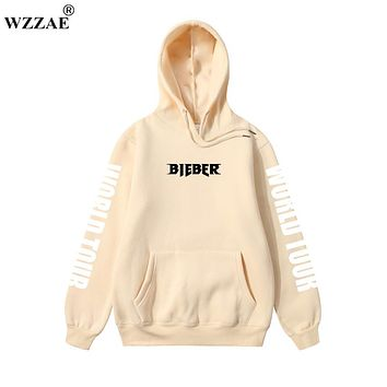 Justin Bieber Purpose Tour Hoodies 2018 Men's Hoodie and Sweatshirt Hip Hop Hoodie for Men's Clothing Justin Bieber Purpose Tour