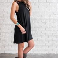Justice Strappy Dress (Black)