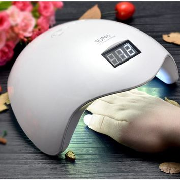 Nail Dryer SUNUV 36W Machine SUN5 365+405nm White Light Polish Gel