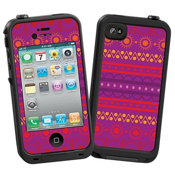 Purple Tribal Skin for the iPhone 4/4S Lifeproof Case by skinzy.com