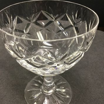 Webb Corbett Prince Charles Hand cut glass wine glass England