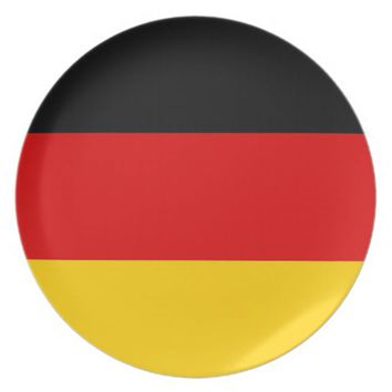 German Flag Plate