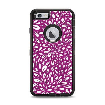 The Purple & White Floral Sprout Apple iPhone 6 Plus Otterbox Defender Case Skin Set