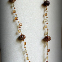 Jasper Pumpkins and Hessonite Garnets Necklace, Statteam