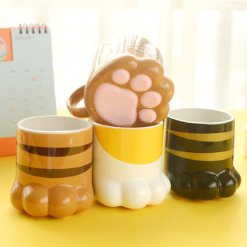 Purrty Paw Cat Coffee Cup, Tea Or Soup Mug