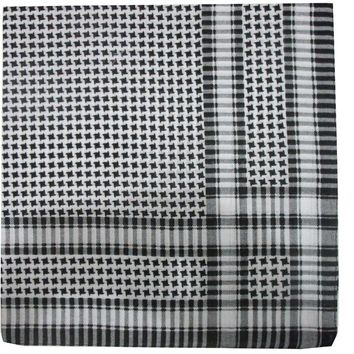 New Male Hip Hop Black White Plaid Houndstooth Shemagh Tactical Scarfs Bandanas Headwear For Mens