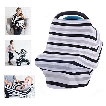 Baby Car Seat Covers Stretchy Infant Canopy and Nursing cover for breastfeeding newborns infants maternity apron infinity scarf