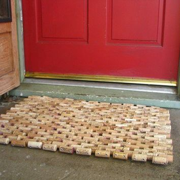 Recycled Wine Cork Doormat by sarahracha on Etsy