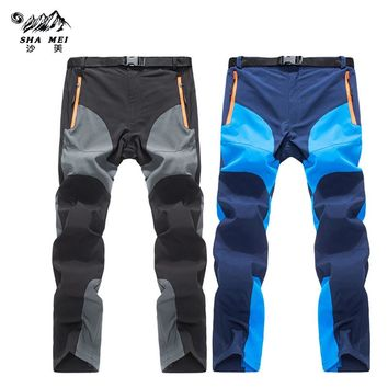 2017 Men's Summer Quick Dry Pants Outdoor Sports Breathable Hiking Camping Trekking Fishing Climbing Trousers