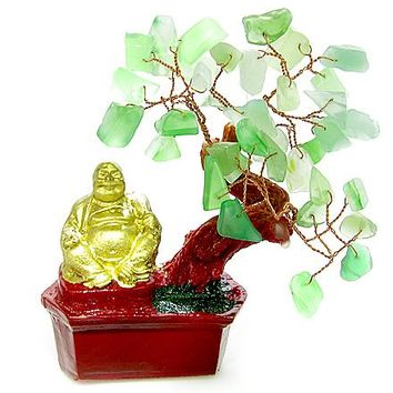 Money Talisman Green Aventurine Buddha Tree