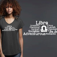Libra Word Art Zodiac T-shirt