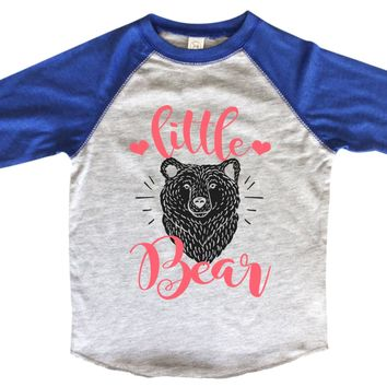 Little Bear BOYS OR GIRLS BASEBALL 3/4 SLEEVE RAGLAN - VERY SOFT TRENDY SHIRT B1000