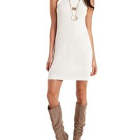 Ivory Sleeveless Turtleneck Sweater Dress by Charlotte Russe