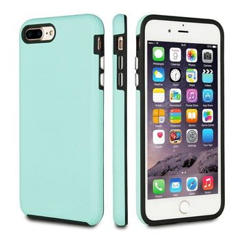 FRIFUN For iPhone 7 Plus Case iPhone 8 Plus Case,Dual Guard Protective Shock Absorbing Case Scratch-Resistant Rugged Drop Protection Cover for iPhone 7 Plus / 8 Plus (Mint/Black)