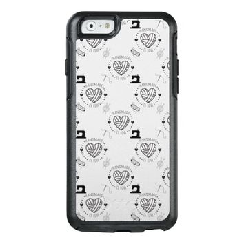 Handmade is Love Crafts Pattern OtterBox iPhone 6/6s Case