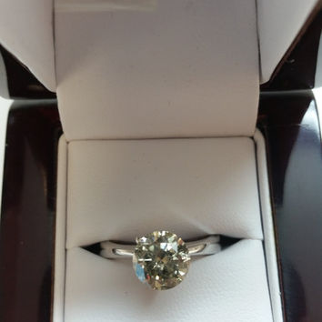 2.03 Carat H I1 Round Diamond Cut Engagement Ring 14K Classic 4 Prong Bridal Certified Jewelry Must See to Appreciate!! Huge Holiday Sale!