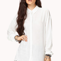 Chic Slit Relaxed Shirt