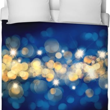 ROB Blue And Gold Duvet Cover
