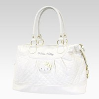shop.sanrio.com - Hello Kitty Quilted Weekend Bag: White