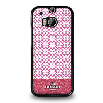 COACH NEW YORK PINK HTC One M8 Case Cover