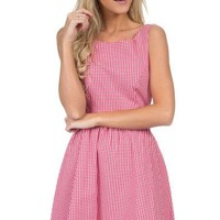 The Emerson Gingham Dress in Red by Lauren James - FINAL SALE