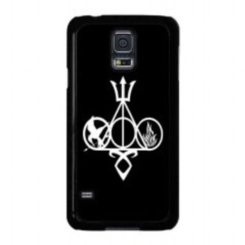 Harry Potter, Percy Jackson, Mortal Instruments, Hunger Games, and Divergent for samsung galaxy s5 case