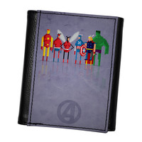 8Bit - Marvel Avengers High Quality PU Faux Leather Wallet by DevilleArt