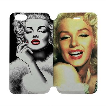 MARILYN MONROE Wallet Case for iPhone 4/4S 5/5S/SE 5C 6/6S Plus Samsung Galaxy S4 S5 S6 Edge Note 3 4 5