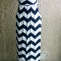 Black/White Chevron Maxi